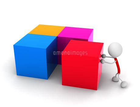ブロックを並べるのイラスト素材 [FYI03137308]