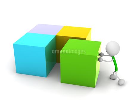 ブロックを並べるのイラスト素材 [FYI03137309]