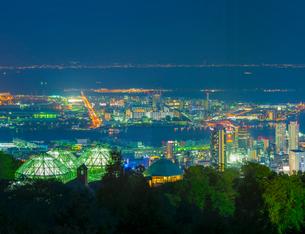 兵庫県 神戸市 自然 風景 神戸市街夜景の写真素材 [FYI03137410]