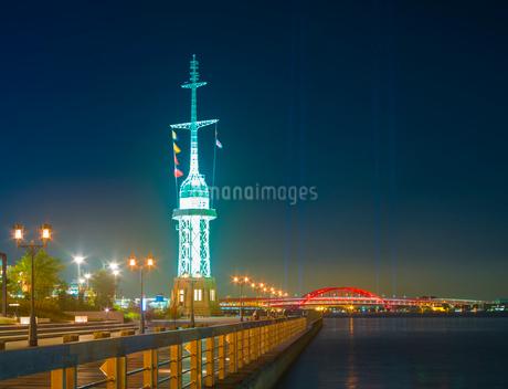 兵庫県 神戸市 自然 風景 神戸港夜景の写真素材 [FYI03137413]