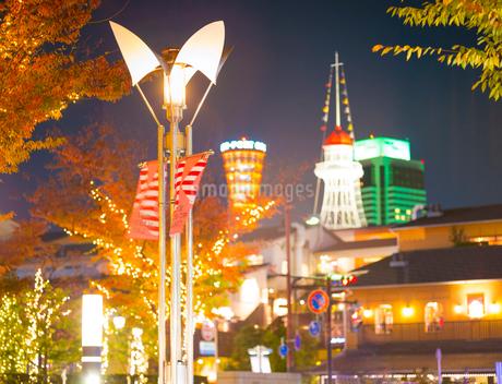 兵庫県 神戸市 自然 風景 神戸港夜景の写真素材 [FYI03137415]
