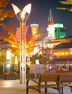 兵庫県 神戸市 自然 風景 神戸港夜景の写真素材 [FYI03137416]