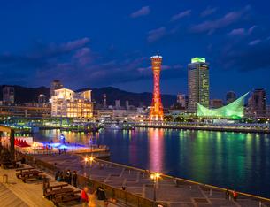 兵庫県 神戸市 自然 風景 神戸港夜景の写真素材 [FYI03137419]