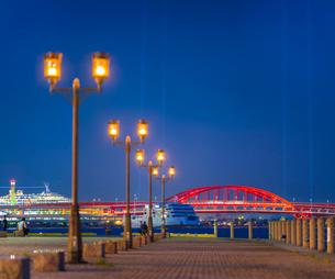 兵庫県 神戸市 自然 風景 神戸港夜景の写真素材 [FYI03137422]