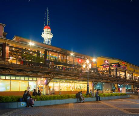 兵庫県 神戸市 自然 風景 神戸港夜景の写真素材 [FYI03137432]