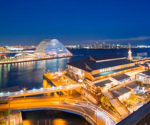兵庫県 神戸市 自然 風景 神戸港夜景の写真素材 [FYI03137442]