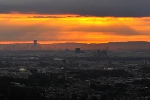 朝焼けの光の写真素材 [FYI03137982]