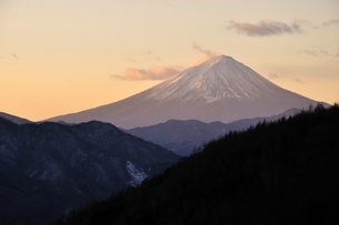 柳沢峠から富士山を望むの写真素材 [FYI03138137]