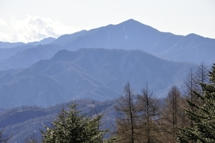 笠取山より大菩薩嶺の写真素材 [FYI03138169]