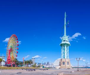 兵庫県 神戸市 自然 風景 青空の神戸港の写真素材 [FYI03138933]