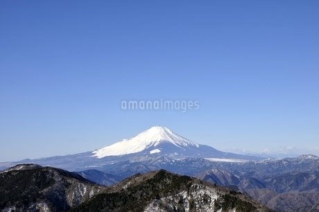 大空と富士山の写真素材 [FYI03139330]