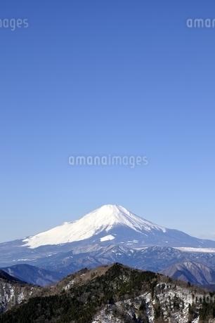大空と富士山の写真素材 [FYI03139331]