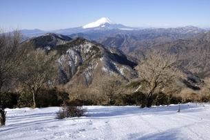 鍋割山山頂より富士山のパノラマの写真素材 [FYI03139338]