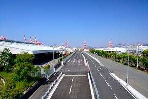 神戸六甲アイランドコンテナ基地周辺の写真素材 [FYI03139391]