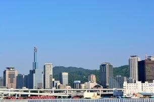 神戸港からの街並みの写真素材 [FYI03139412]