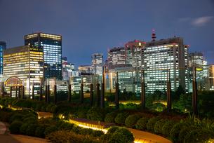 東京ミッドタウン日比谷テラスより霞が関ビル群を望むの写真素材 [FYI03139623]