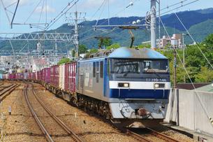JR神戸線の貨物列車の写真素材 [FYI03139828]
