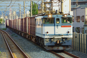 おおさか東線の貨物列車の写真素材 [FYI03139831]