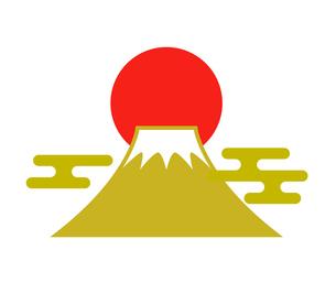 富士山と日の出アイコンのイラスト素材 [FYI03140360]