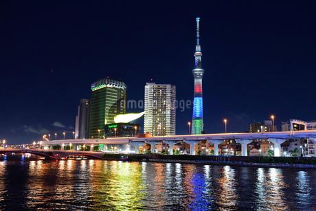 隅田川の夜景の写真素材 [FYI03140456]