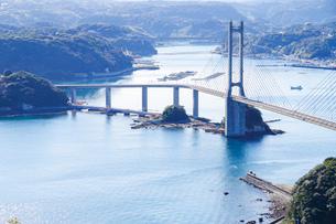 佐賀県唐津市加部島から見た呼子大橋とその周辺の写真素材 [FYI03140524]