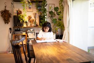勉強する女の子の写真素材 [FYI03140569]