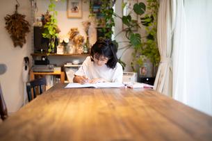 勉強する女の子の写真素材 [FYI03140570]