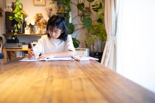勉強する女の子の写真素材 [FYI03140572]