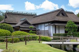 後楽園の日本家屋の写真素材 [FYI03140796]