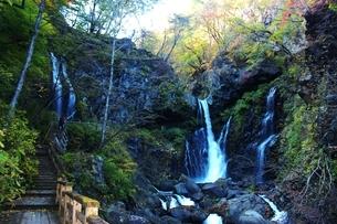 日光の名瀑 裏見の滝の写真素材 [FYI03141130]