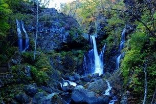 日光の名瀑 裏見の滝の写真素材 [FYI03141132]