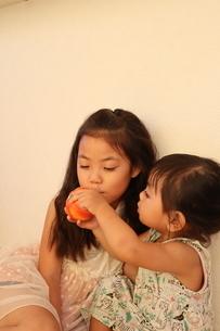 遊ぶ姉妹の写真素材 [FYI03141146]
