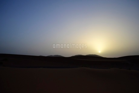 夜明けの砂漠の写真素材 [FYI03141699]