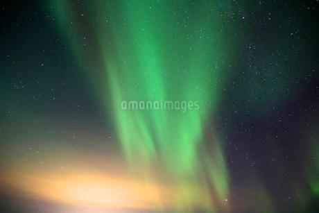 アイスランドのオーロラの写真素材 [FYI03141715]