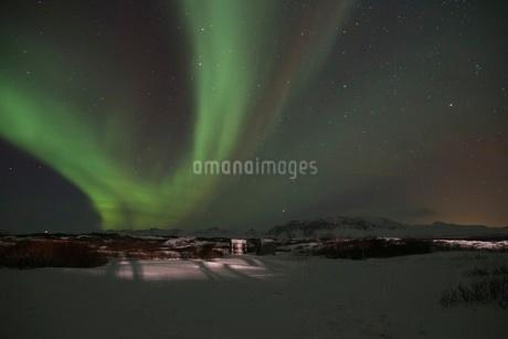 アイスランドのオーロラの写真素材 [FYI03141717]