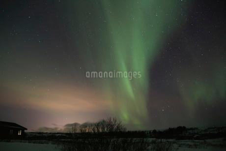 アイスランドのオーロラの写真素材 [FYI03141719]