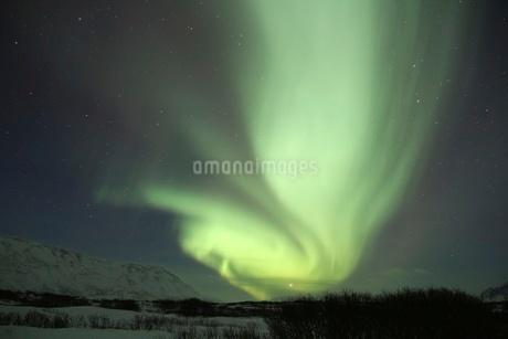 アイスランドのオーロラの写真素材 [FYI03141720]