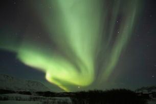 アイスランドのオーロラの写真素材 [FYI03141721]