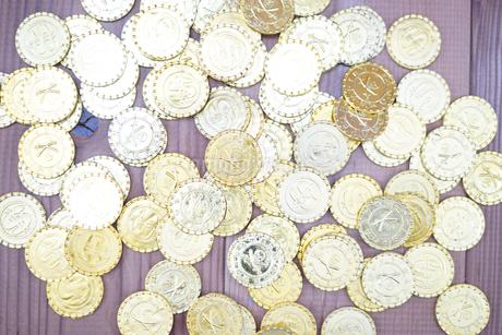 たくさんの金貨の写真素材 [FYI03141818]