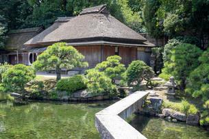 後楽園の日本家屋の写真素材 [FYI03142487]