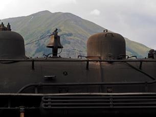 北米アメリカ合衆国コロラド州デュランゴシルバートン狭軌鉄道の蒸気機関車の蒸気ドーム部分の写真素材 [FYI03142689]