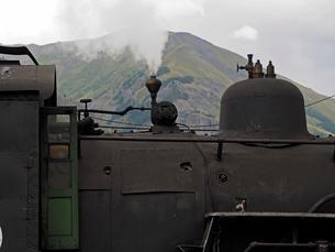 北米アメリカ合衆国コロラド州デュランゴシルバートン狭軌鉄道の蒸気機関車ボディー丈夫の風景の写真素材 [FYI03142696]