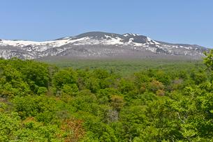 湯浜峠から望む春の栗駒山 宮城県の写真素材 [FYI03142863]