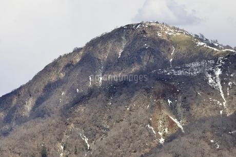 蛭ヶ岳 残雪の季節の写真素材 [FYI03143525]