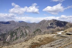 丹沢 長閑な春山の展望の写真素材 [FYI03143527]