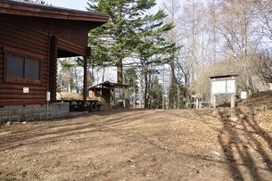 鷹ノ巣山避難小屋の分岐の写真素材 [FYI03143711]
