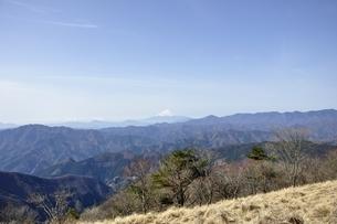 鷹ノ巣山からの展望コピースペースの写真素材 [FYI03143733]