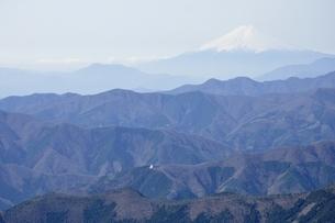 鷹ノ巣山より富士山遠望の写真素材 [FYI03143762]