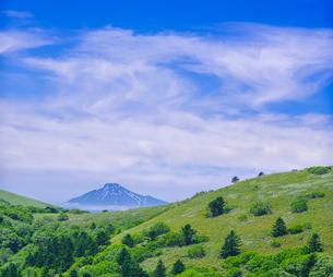 北海道 自然 風景 稚内公園より利尻島遠望 の写真素材 [FYI03143926]