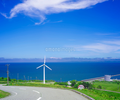 北海道 自然 風景 稚内公園 宗谷海峡遠望 の写真素材 [FYI03143934]